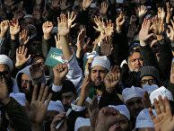 Акция протеста мусульман возле Даунинг-стрит в Лондоне
