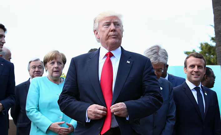 Президент США Дональд Трамп на саммите G7