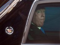Президент США Дональд Трамп после встречи в Брюсселе с лидерами Европейского совета