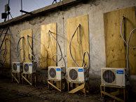 Кондиционеры на крыше дома в Афганистане