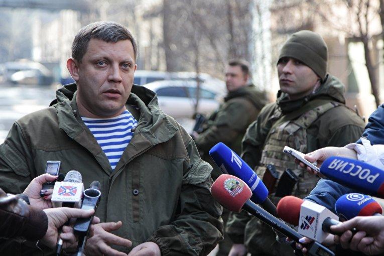 Глава Донецкой народной республики Александр Захарченко во время посещения Юзовского металлургического завода в Донецке