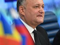Президент Молдовы Игорь Додон во время пресс-конференции в Москве