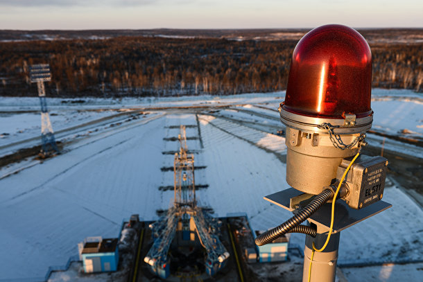 Вид с мобильной башни обслуживания