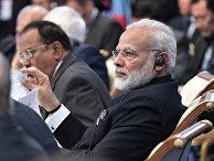 Премьер-министр Индии Нарендра Моди на заседании совета глав государств - членов ШОС. 9 июня 2017