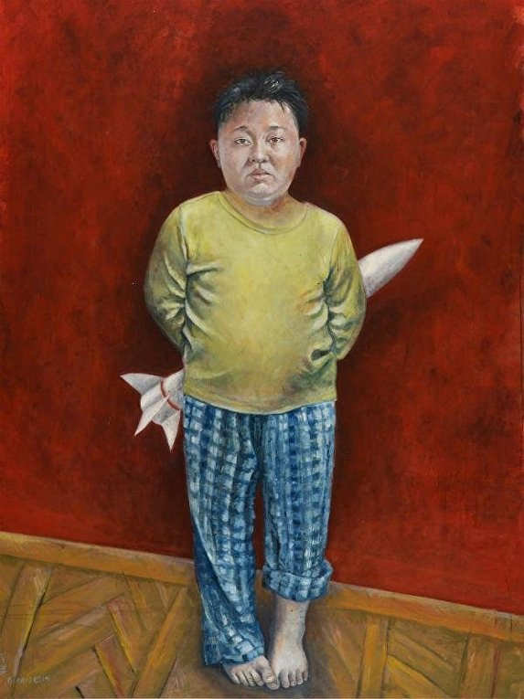 Карикатура на Ким Чем Ына