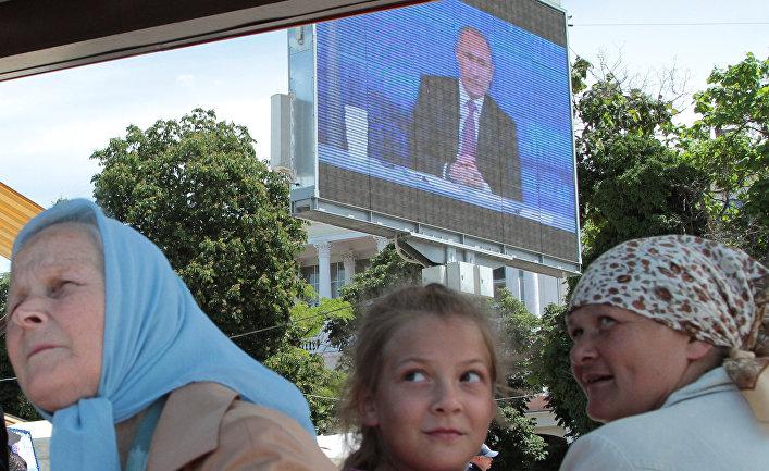 Началась «Прямая линия» спрезидетом РФ Владимиром Путиным