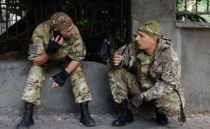 Митинг «Правого сектора» у здания администрации президента Украины