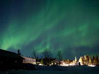 Северное сияние в Кируне, Швеция