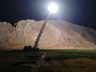 Пуск ракеты из иранского города Керманшах по позициям «Исламского государства» (запрещена в РФ)