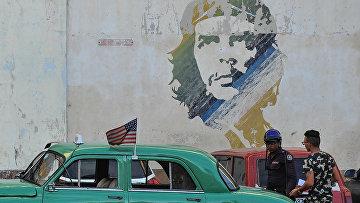 Граффити с изображением Че Гевары в Гаване