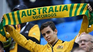 Болельщик сборной Австралии во время матча Кубка конфедераций-2017 по футболу