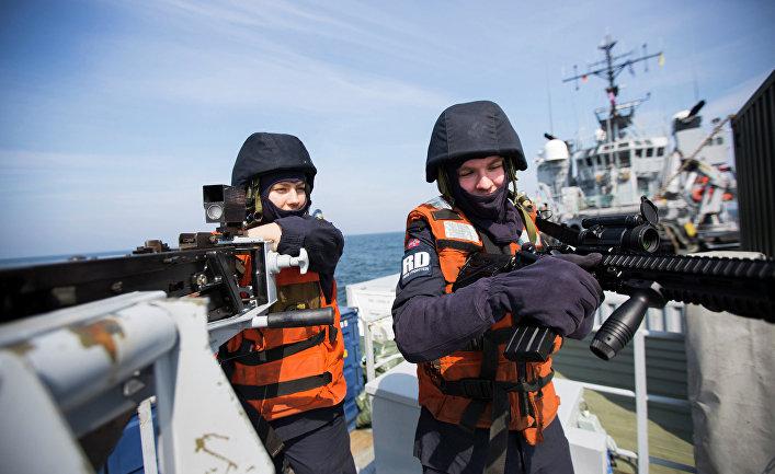 Норвежские военные в Балтийском море