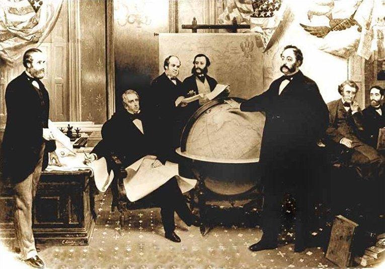 Подписание договора о продаже Аляски в 1867 году