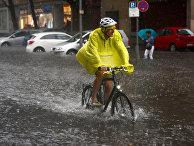 Затопленная улица в Берлине