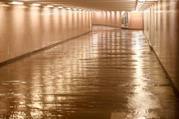 Затопленный тоннель в Берлине