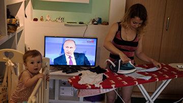 """Трансляция """"Прямой линии с Владимиром Путиным"""". 15 июня 2017"""