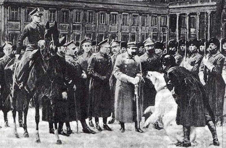 Встреча Баськи с «начальником государства» Юзефом Пилсудским