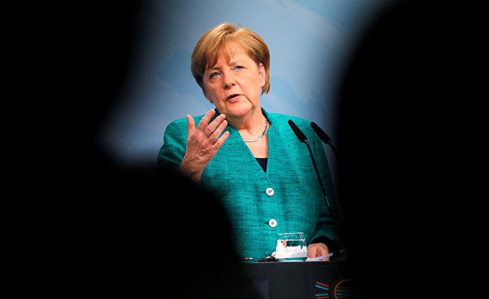Канцлер Германии Ангела Меркель на пресс-конференции