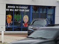 Витрина магазина автомобилей Hyundai