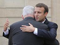 Премьер-министр Израиля Биньямин Нетаньяху и президент Франции Эммануэль Макрон