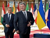 Президент Европейского совета Дональд Туск и президент Украины Петр Порошенко