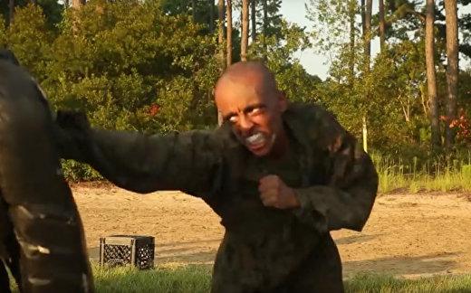 Тренировки морской пехоты США
