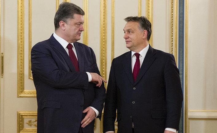 Президент Украины Петр Порошенко и премьер-министр Венгрии Виктор Орбан в Киеве