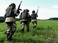 Учения спецназа Росгвардии по беспарашютному десантированию