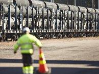 Первые трубы прибывают в Котку, Финляндия