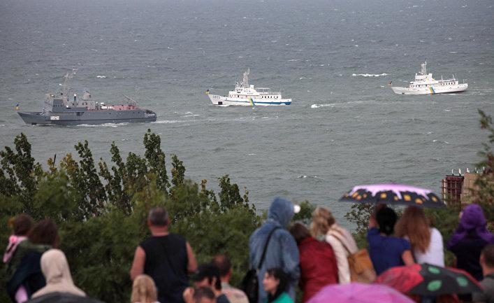Корабли украинских ВМС у берегов Одессы