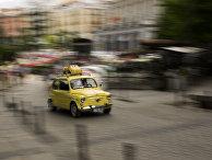 Автомобиль на улице Мадрида, Испания