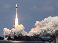 Японская ракета H-IIA взлетает в японском агентстве аэрокосмических исследований