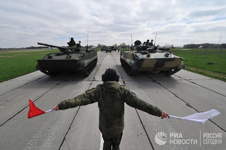 Тренировка парада Победы в Ростове-на-Дону