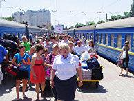 Железнодорожная станция в Одессе