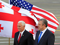 Вице-президент США Майк Пенс и премьер-министр Грузии Георгий Квирикашвили