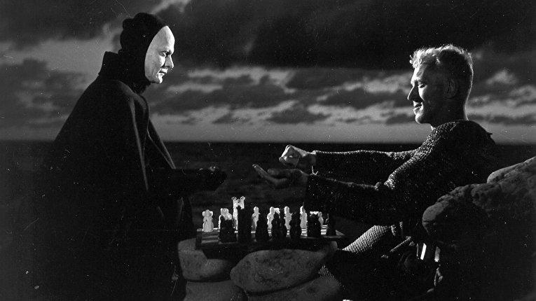 Кадр из фильма «Седьмая печать», 1957