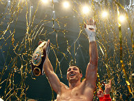 Украинский боксер Владимир Кличко в Дюссельдорфе, Германия