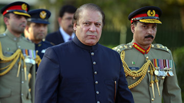 Премьер-министр Пакистана Наваз Шариф в Исламабаде
