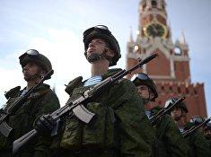 Празднование Дня ВДВ бери Красной площади