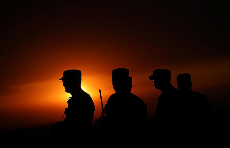 Американские солдаты на военных учениях Swift Response 2017
