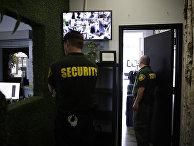 Сотрудники охранной организации в Лос-Анжелесе