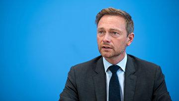 Председатель немецко-либеральной партии Кристиан Линднер