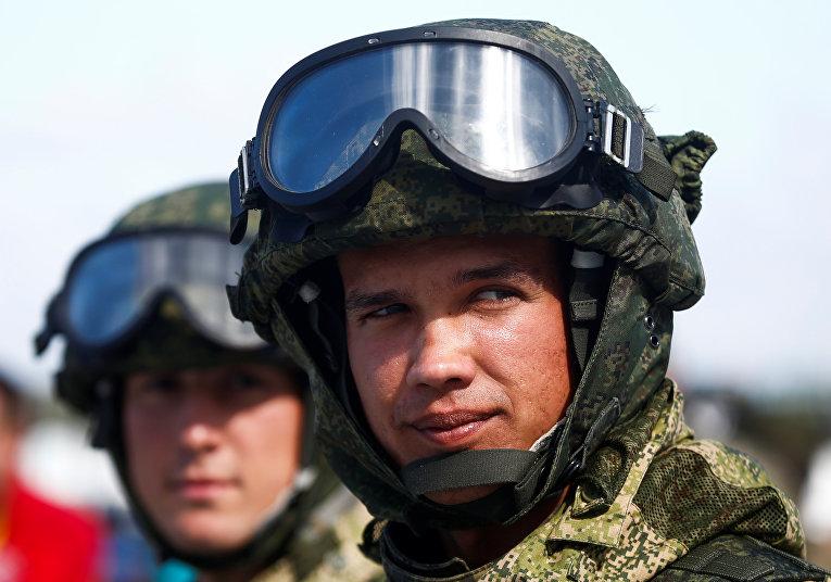 Российские военнослужащие на армейских международных играх 2017