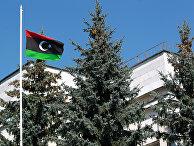 Посольство Ливии в Москве сменило знамя Джамахирии на флаг повстанцев