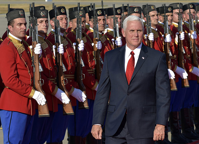 Вице-президент США Майк Пенс в Черногории