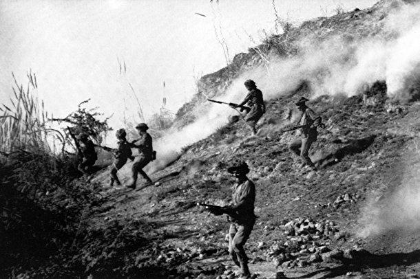 Индийские солдаты во время индо-пакистанской войны