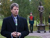 Церемония открытия памятника князю Олегу Константиновичу Романову в Царском селе