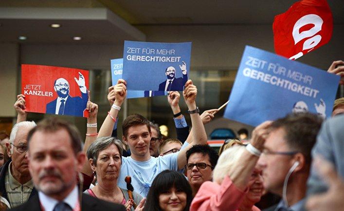 Предвыборное выступление кандидата в канцлеры Германии М. Шульца в Эссене