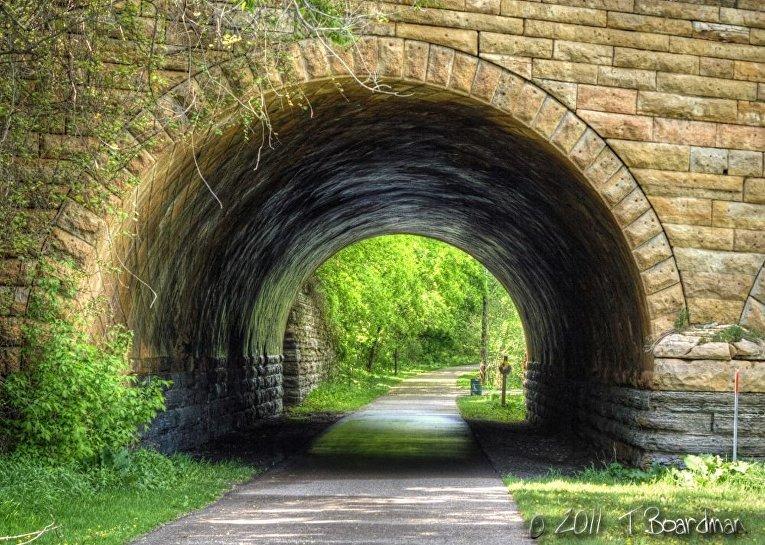 Туннель в парке Шведская пустошь, Сен-Пол, Миннесота