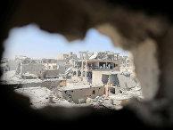 Здания, разрушенные после боев с ИГИЛ (запрещено в РФ) в городе Ракка, Сирия